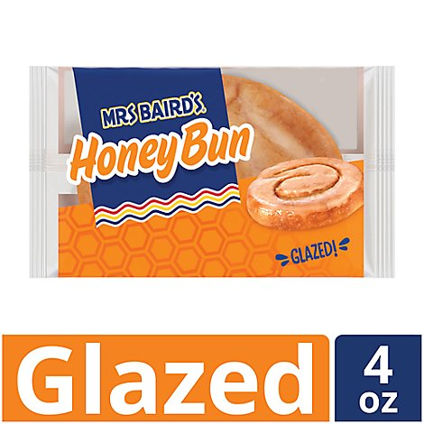 Mrs Bairds Honey Bun Glazed - 4 Oz
