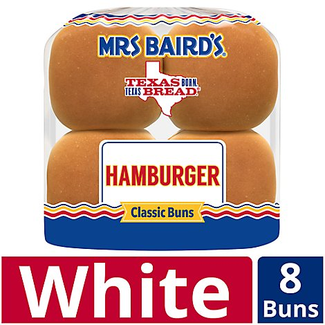 Bairds 4in 8 Pk Hamb Buns - 8 Package