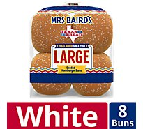 Mrs Bairds Hamburger Buns Large Seeded 8 Count - 18.25 Oz