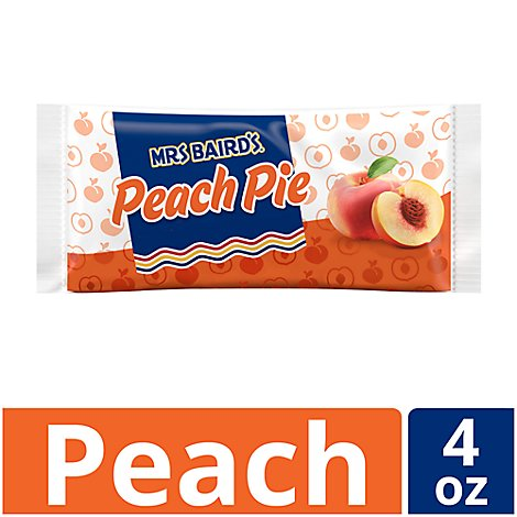 Mrs Bairds Single Serve Peach Pie - 4.25 Oz