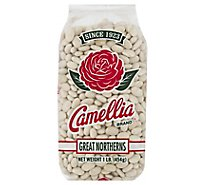 Camellia Beans White Large Great Northerns - 1 Lb