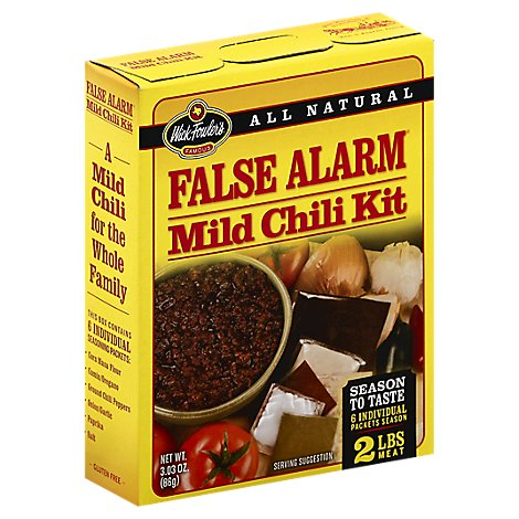 Wick Fowlers Chili Kit False Alarm Mild - 3.03 Oz