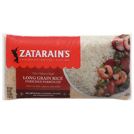 Zatarains New Orleans Style Rice Extra Long Grain Enriched Parboiled - 80 Oz