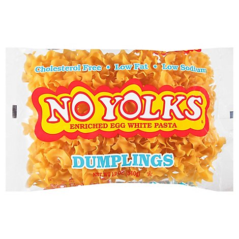 No Yolks Pasta Enriched Egg White Dumplings - 12 Oz