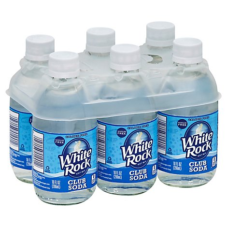 White Rock Club Soda - 6-10 Fl. Oz.