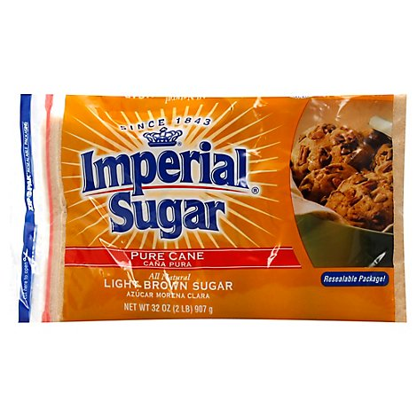 Imperial Sugar Pure Cane Light Brown - 32 Oz