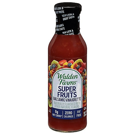 Walden Farms Salad Dressing Calorie Free Vinaigrette Super Fruits Balsamic - 12 Fl. Oz.