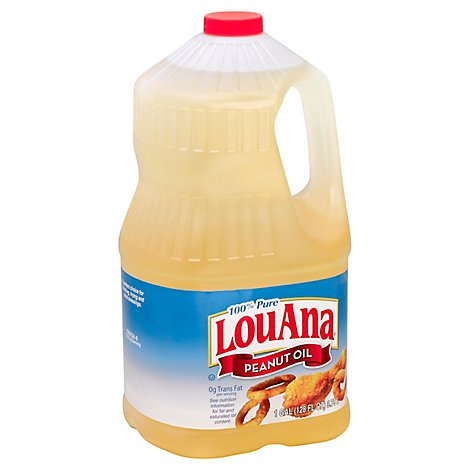 LouAna Peanut Oil Pure - 128 Fl. Oz.