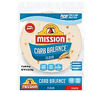 Mission Carb Balance Tortillas Flour Fajita Small Bag 8 Count - 8 Oz