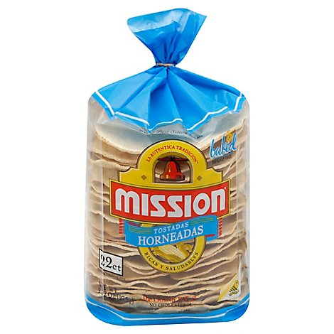 Mission Tostadas Horneadas Bag 22 Count - 9.2 Oz