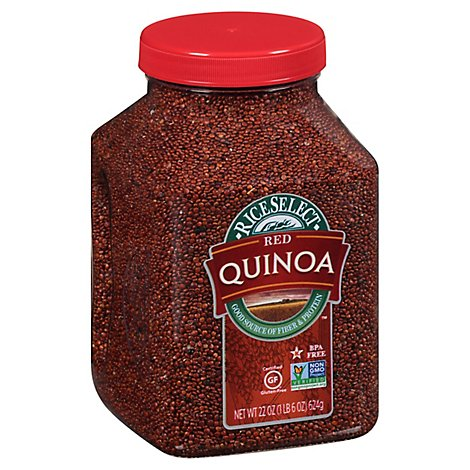 Rice Select Quinoa Gluten Free Red Quinoa Jar - 22 Oz