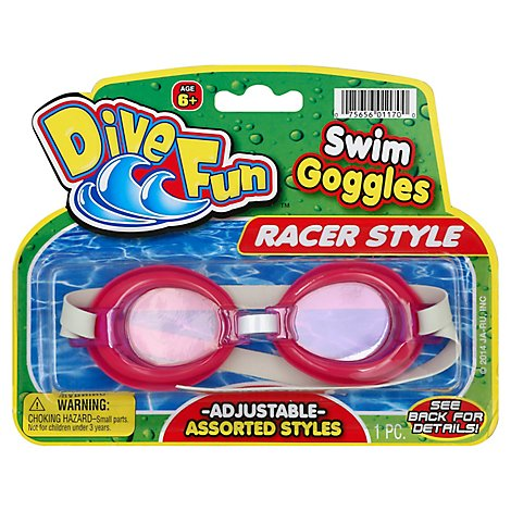 Swim Race Goggles 7 Inch By 5.5 Inch - Each
