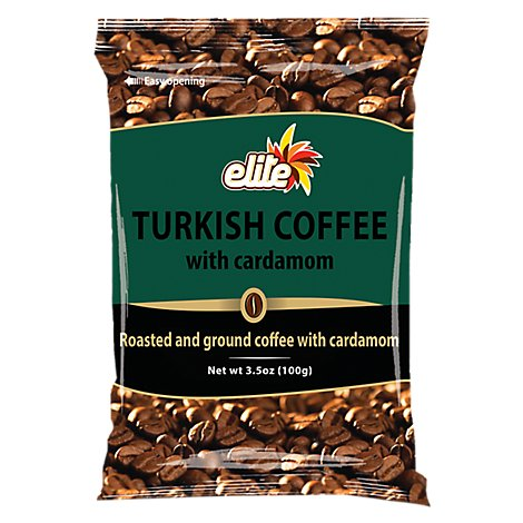 Elite Coffee Turkish W Cardamom Bags - 3.5 Oz