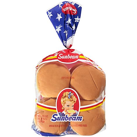 Sunbeam Hamburger Buns - 20 Oz