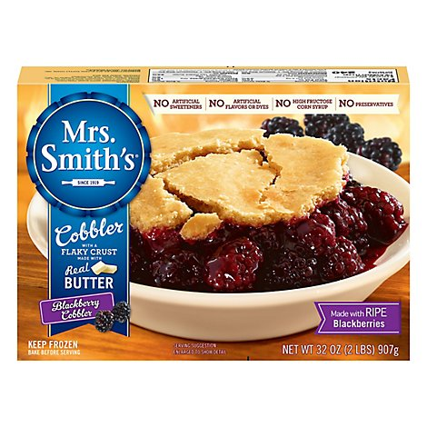 Mrs. Smiths Cobbler With Flaky Crust Blackberry - 32 Oz