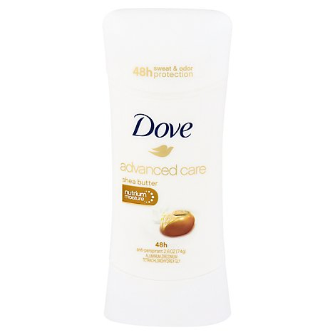Dove Advanced Care Antiperspirant Deodorant Stick Shea Butter - 2.6 Oz