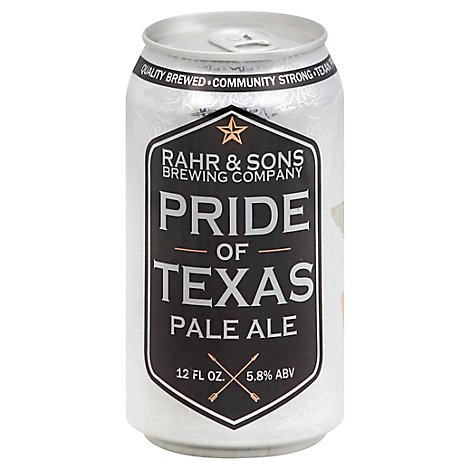 Rahr Pride Of Texas Pale Ale In Cans - 6-12 Fl. Oz.