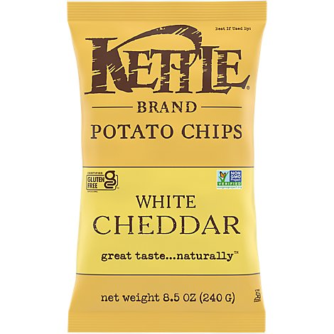 Kettle Potato Chips New York Cheddar - 8.5 Oz