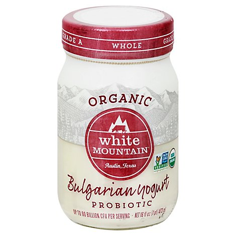 White Mountain Yogurt Whlmlk Bulgarian - 16 Oz
