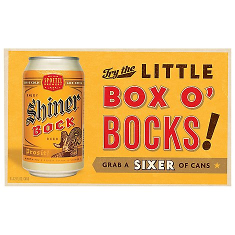Shiner Bock Cans - 6-12 Fl. Oz.