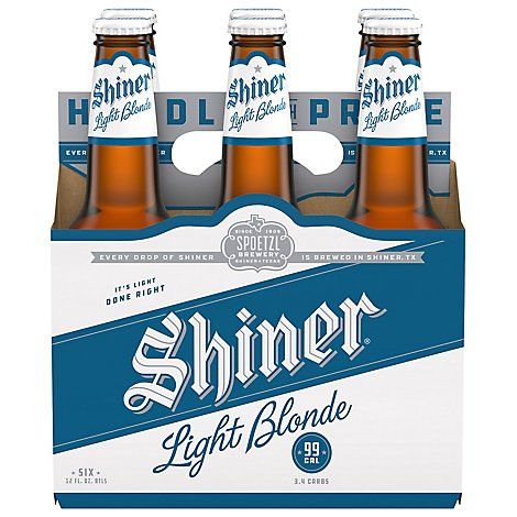 Shiner Blonde Light Beer In Bottles - 6-12 Fl. Oz.
