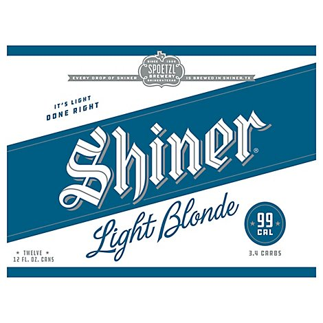 Shiner Blonde Light Cans - 12-12 Fl. Oz.