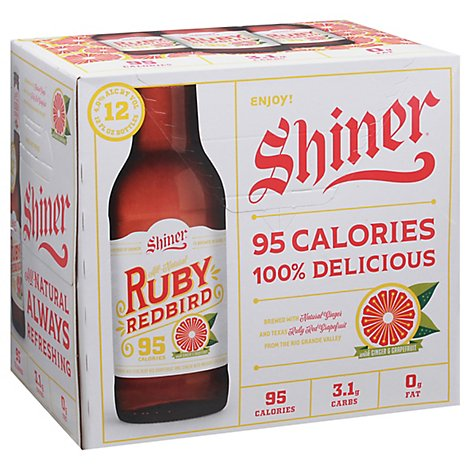 Shiner Ruby Red Grapefruit In Bottles - 12-12 Fl. Oz.