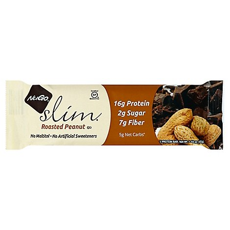 Nugo  Bar Slim Roasted Peanut - 1.59 Oz