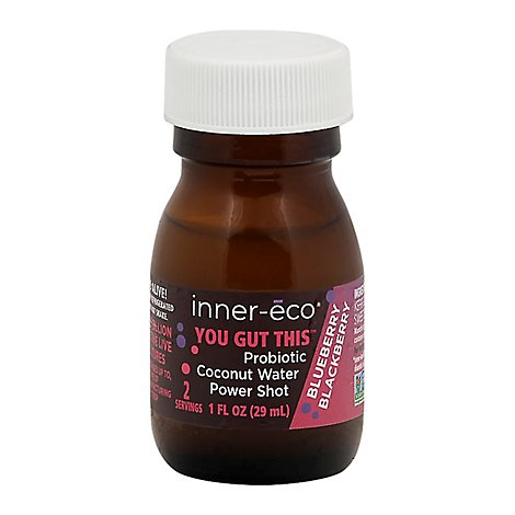 inner-eco TO GO Mege Probiotic Coconut Water Berry Flavor - 1 Fl. Oz.