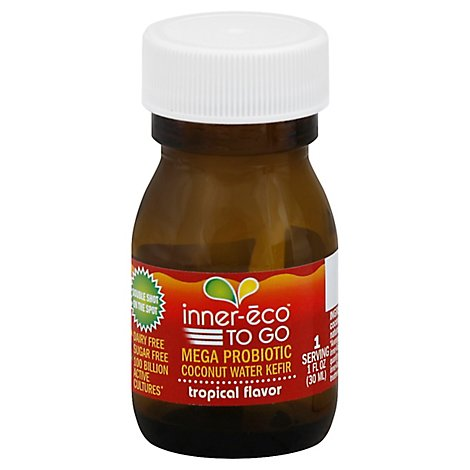 inner-eco TO GO Mege Probiotic Coconut Water Tropical Flavor - 1 Fl. Oz.