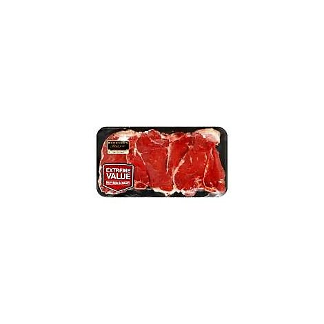 Certified Angus Beef Loin Prtrhse Steak Thin Value Pack - 1 LB