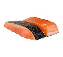 Seafood Service Counter Fish Salmon Fillets Atlantic 1/2 - 1.00 LB