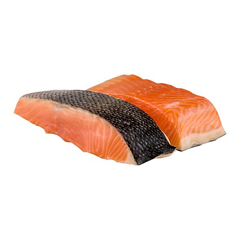 Seafood Counter Fish Salmon Fillets Atlantic Seasoned Service Case - 1.00 LB