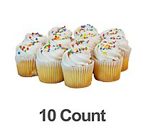 Bakery Cupcake Whites With White Icing 10 Count - Each