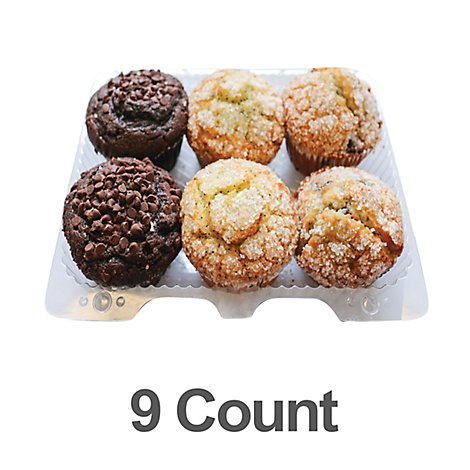 Bakery Muffins 9 Count Chocolate Cranberry Blue - Each