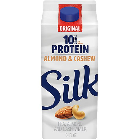 Silk Protein Almond & Cashewmilk Original Pea - 64 Fl. Oz.