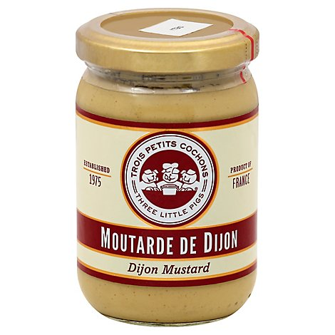Three Pigs Mustard Dijon Whole Grain - 7 Oz