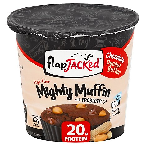 Flapjacked Mighty Muffin Chocolate Peanut Butter Tub - 1.94 Oz