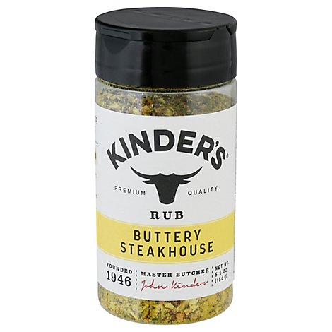 Kinders California Barbecue Rub Buttery Steakhouse - 5.5 Oz