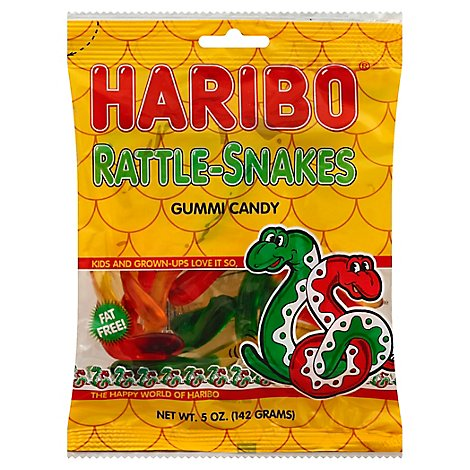 Haribo Gummi Candy Rattle Snakes - 5 Oz