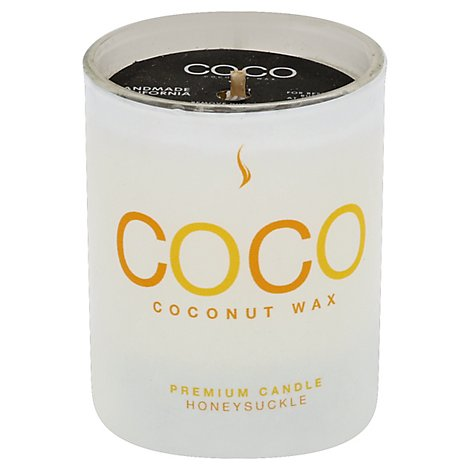 Coconut Candle 2.5oz Honeysuckle - Each