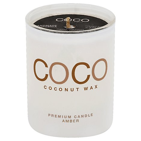 Coconut Candle 6.5oz Amber - Each