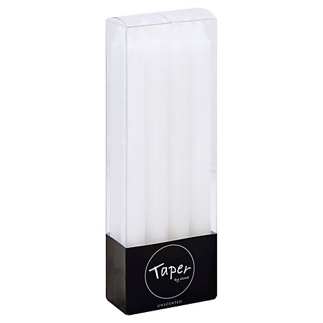 Dinner Taper Box 8pk White Semi Dripless - Each