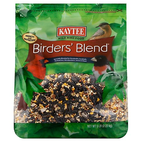 Kaytee Pet Food Wild Bird Birders Blend Bag - 5 Lb