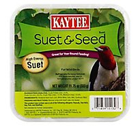 Kaytee Pet Food Wild Bird High Energy Suet Suet & Seed Tray - 11.75 Oz