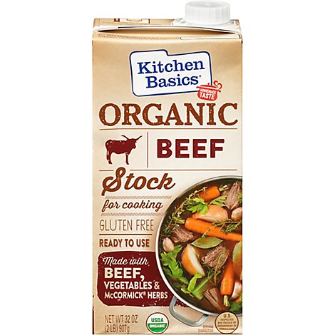 Kitchen Basics Organic Beef Stock Gluten Free - 32 Oz