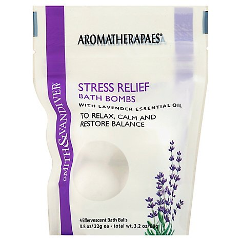 Aromatherapaes Bath Bombs Stress Relief with Lavender Essential Oil - 4-0.8 Oz