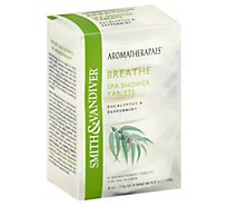 Aromatherapaes Spa Shower Tablets Breathe Eucalyptus & Peppermint - 6-0.8 Oz
