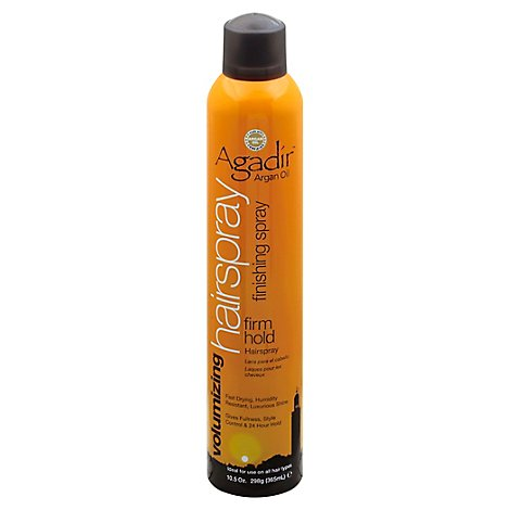 Agadir Hair Spray Argan Oil Finishing Firm Hold - 10.5 Fl. Oz.