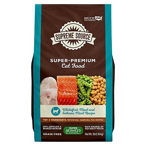 Supreme Source Cat Food Grain Free Adult Whitefish Meal And Salmon Bag - 3 Lb